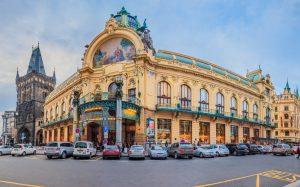 Municipal House building in Prague