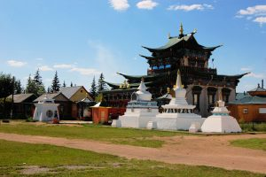 Moscow - Beijing Train Tour. Gandan Abbey Ulaanbaatar