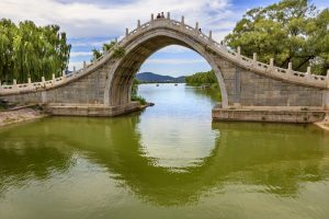 Moscow - Beijing Train Tour. Moon Gate Bridge in Beijing