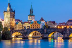 Royal Tour – Prague, Budapest, Vienna. Charles Bridge at night