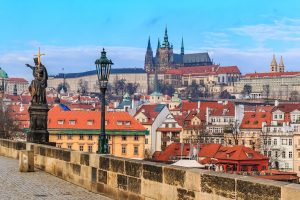 Royal Tour – Prague, Budapest, Vienna. View onto Prague Castle from Charles Bridge