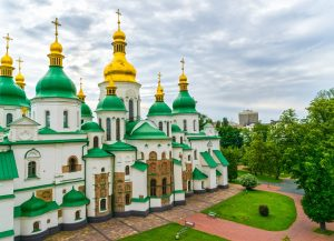 Western Ukraine Tour. St. Sofia cathedral. Kyiv, Ukraine.