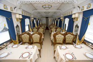 Moscow - Beijing Train Tour. Dining room in train